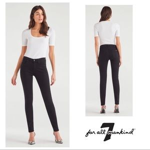 Jen7 For All Mankind Skinny Ankle in Night Black